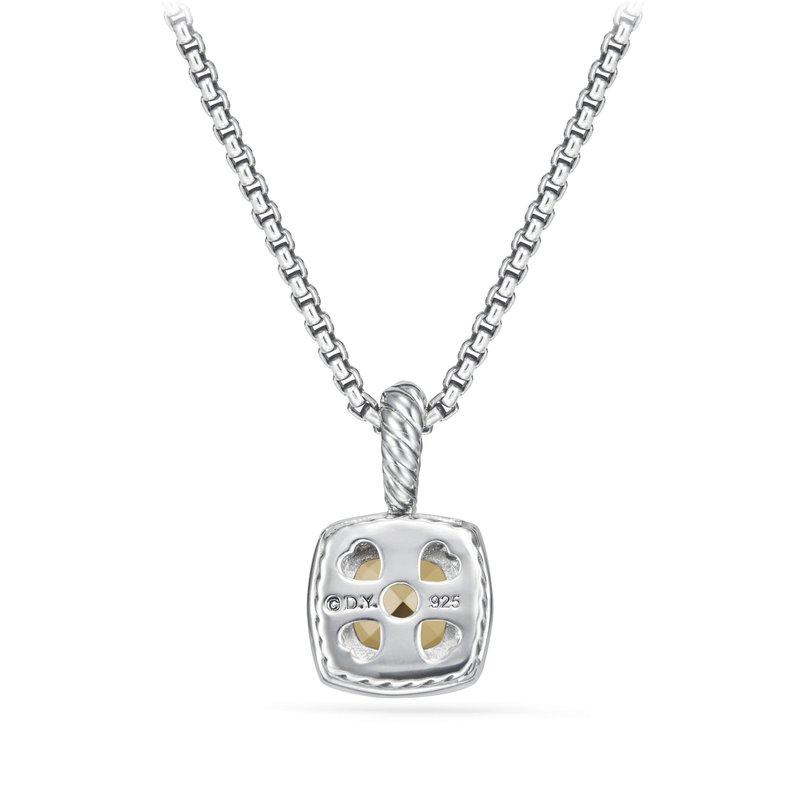 David Yurman Petite Albion Pendant Necklace with 18K Gold Dome Diamonds