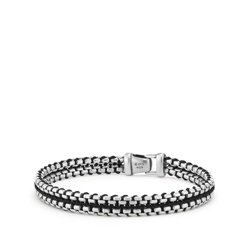 David Yurman Woven Box Chain Bracelet in Black