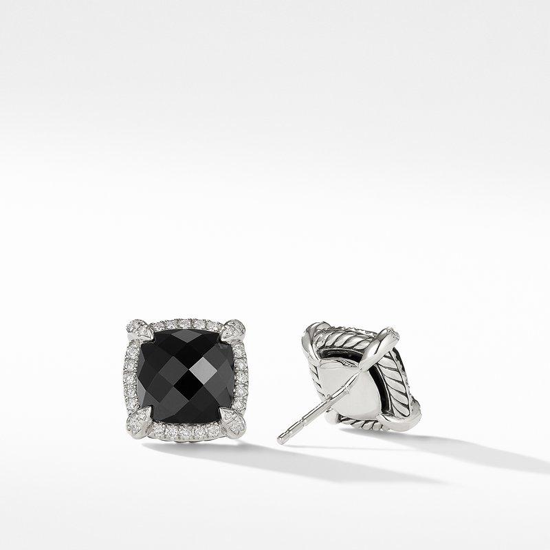 David Yurman Chatelaine® Pavé Bezel Earring with Black Onyx and Diamonds mm