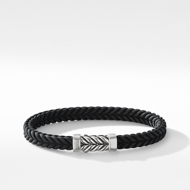 David Yurman Chevron Black Rubber Bracelet