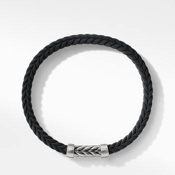 Chevron Black Rubber Bracelet