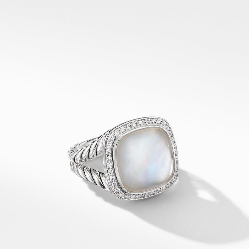 David Yurman Albion® Ring with Rock Crystal and Diamonds