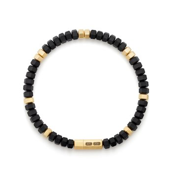 Hex Bead Bracelet with 18K Gold