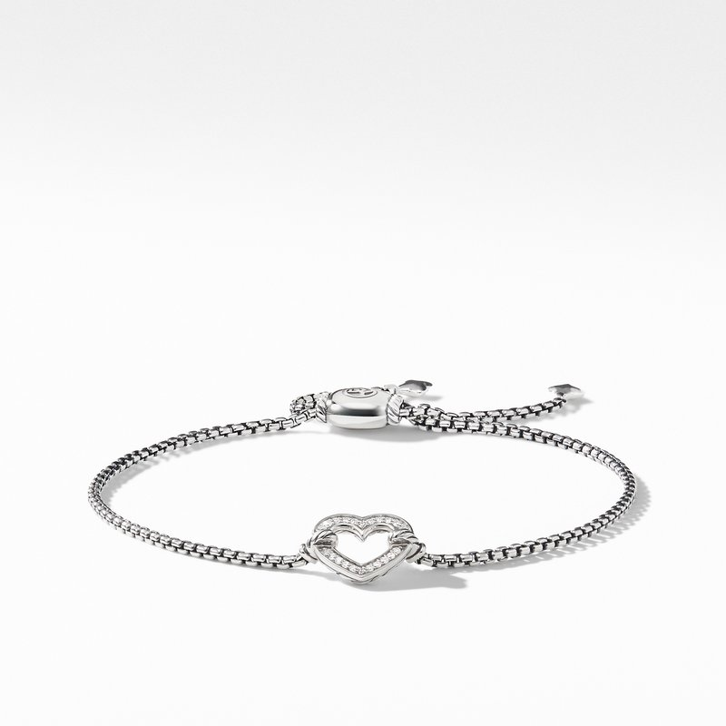 David Yurman Heart Station Bracelet with Diamonds
