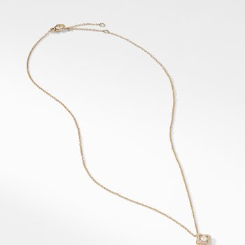 Venetian Quatrefoil® Necklace with Pearl and Diamonds in 18K Gold