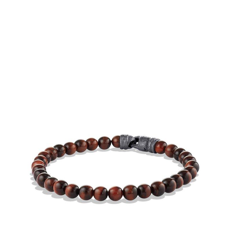 David Yurman Spiritual Beads Bracelet with Red Tiger's Eye