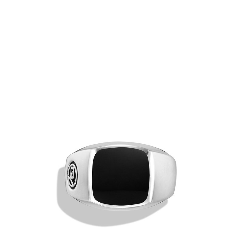 David Yurman Exotic Stone Signet Ring with Black Onyx