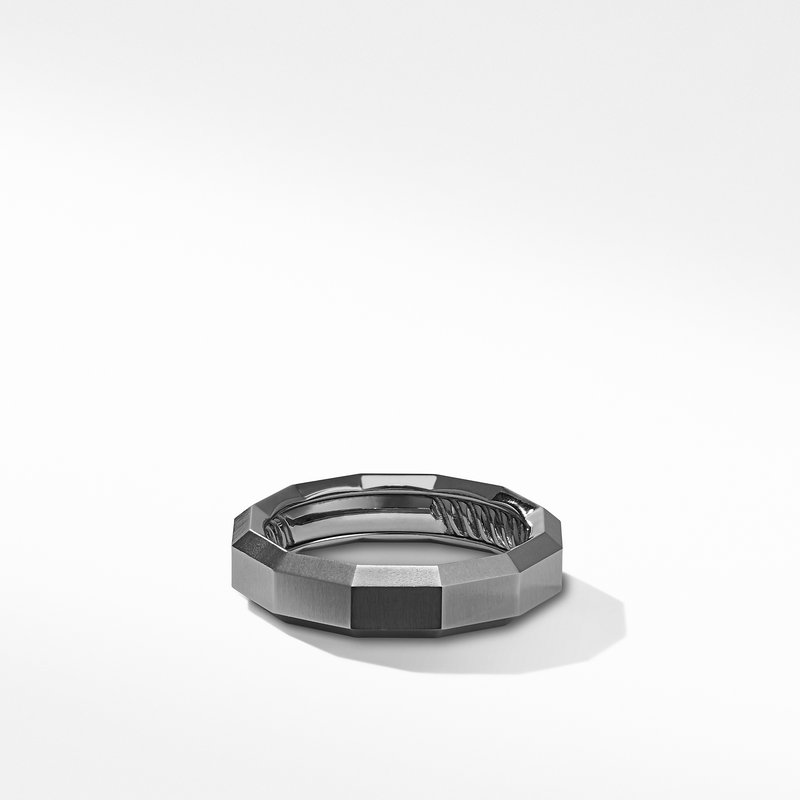 David Yurman Faceted Band Ring in Grey Titanium