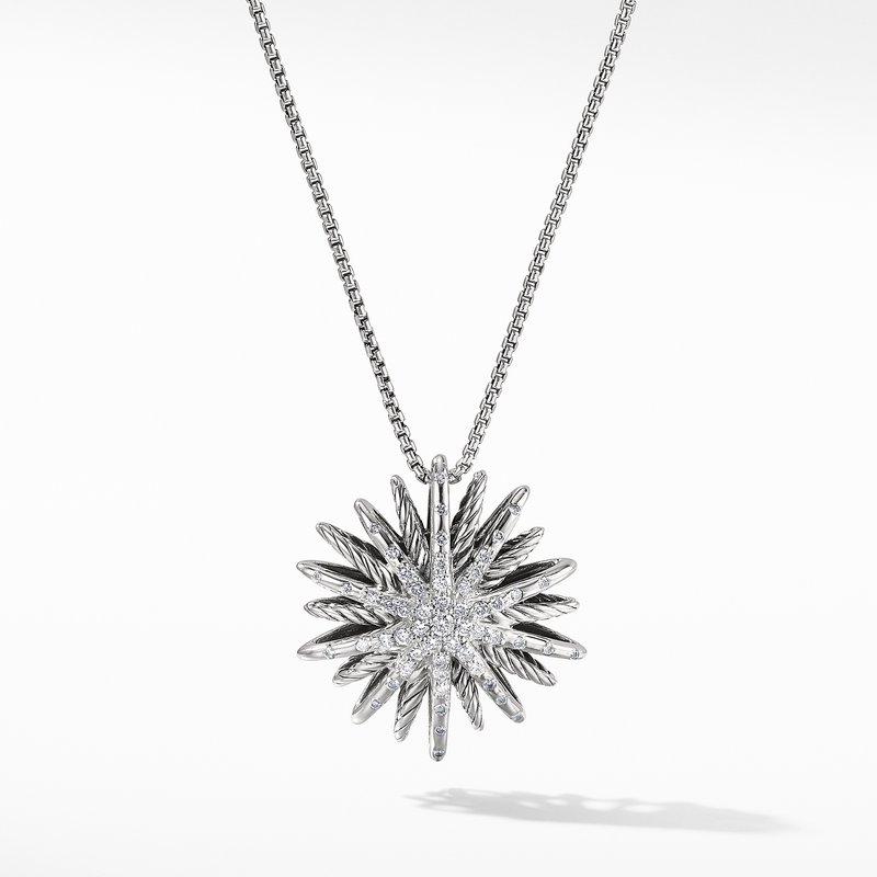 David Yurman Starburst Medium Pendant Necklace with Diamonds