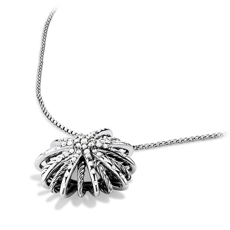 David Yurman Starburst Medium Pendant Necklace with Diamonds