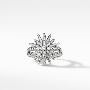 Starburst Ring with Pavé Diamonds
