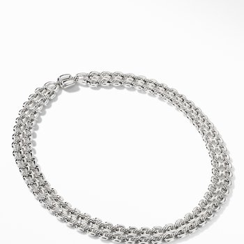 Thoroughbred® Double Row Cushion Link Necklace
