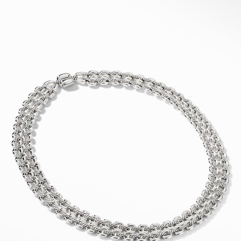 David Yurman Thoroughbred® Double Row Cushion Link Necklace