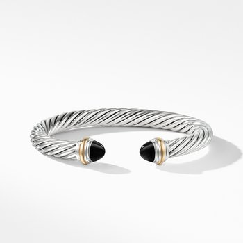 Cable Classics Collection® Bracelet with Black Onyx and 14K Gold
