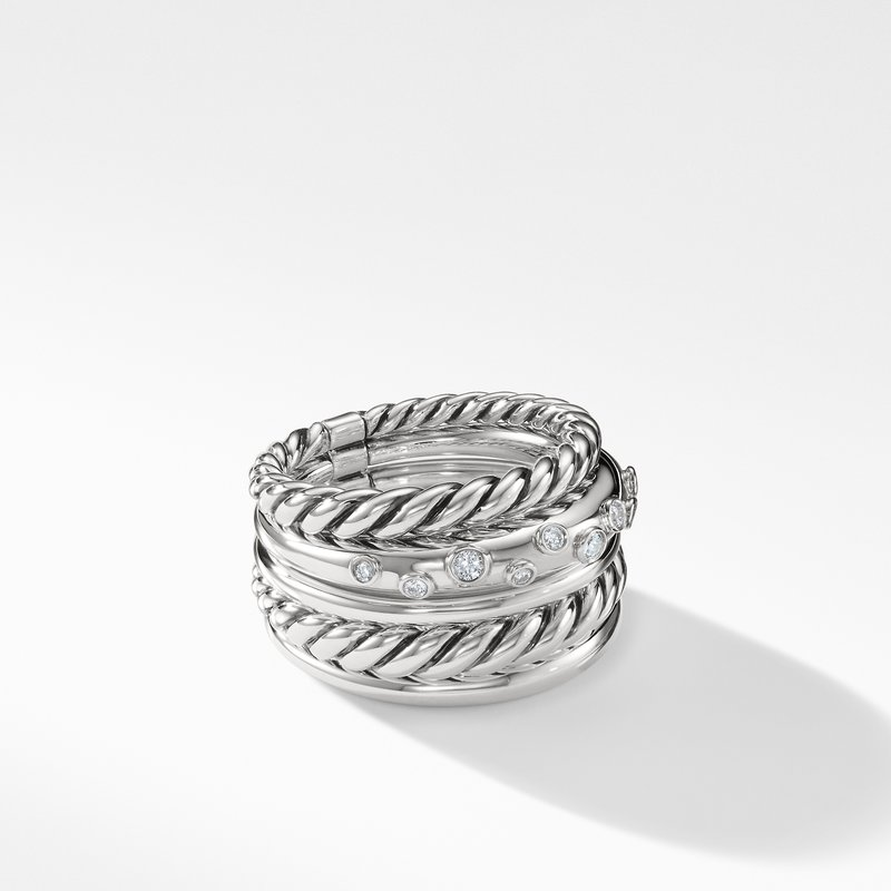 David Yurman Pure Form® Wide Ring with Diamonds