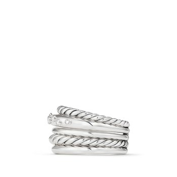 Pure Form® Wide Ring with Diamonds