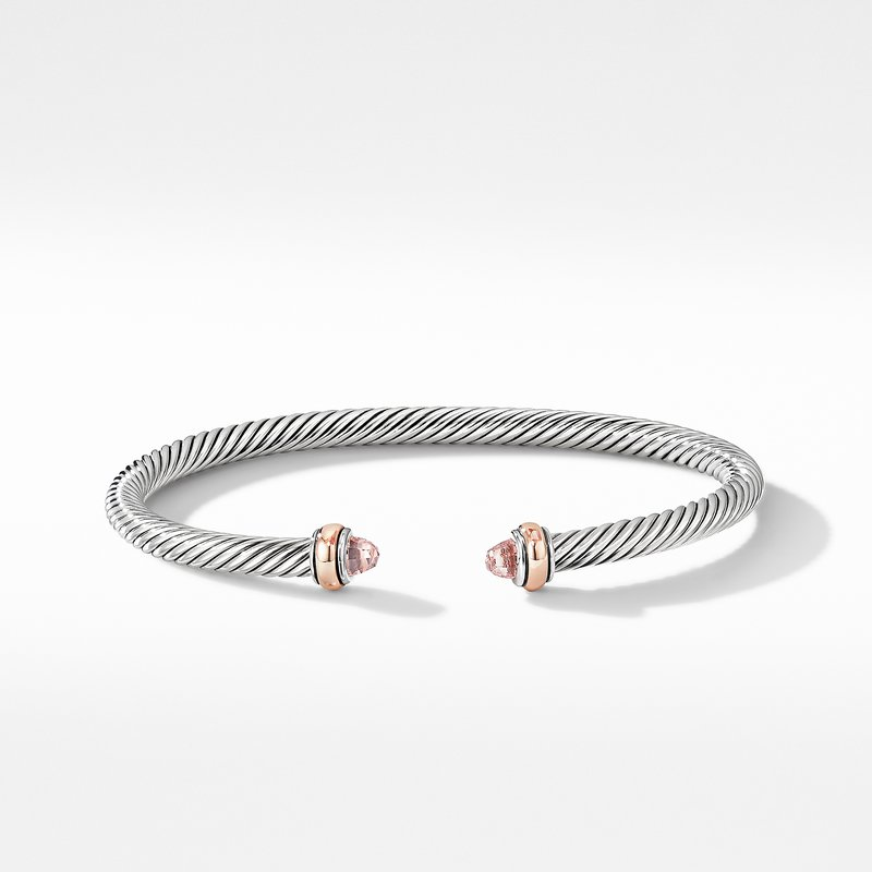 David Yurman Cable Classics Collection® Bracelet with Morganite and 18K Rose Gold
