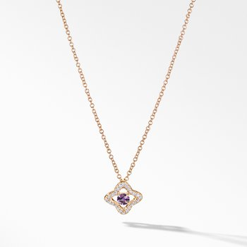 Necklace with Amethyst and Diamonds in 18K Gold