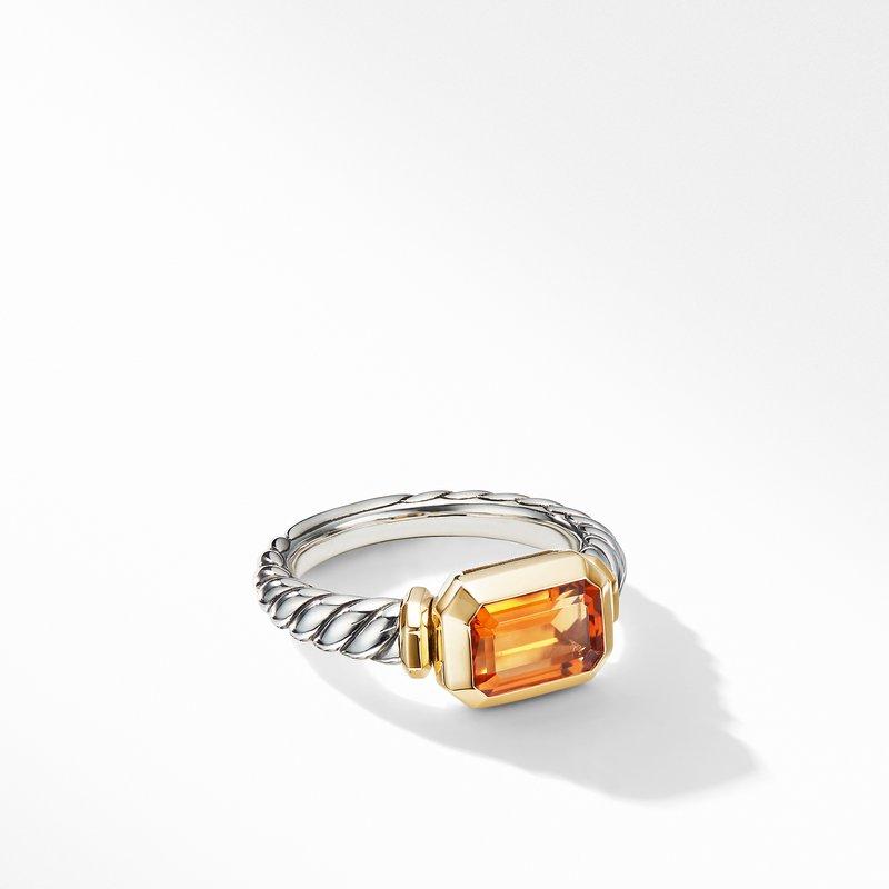 David Yurman Novella Ring with Madeira Citrine and 18K Yellow Gold