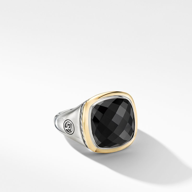 David Yurman Albion® Ring with Black Onyx and 18K Yellow Gold