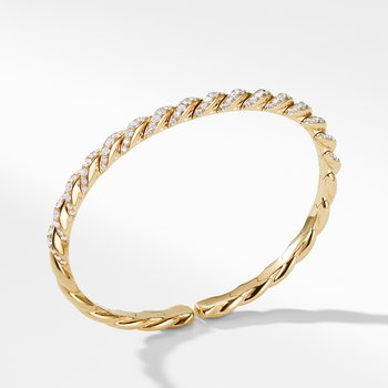 Pavéflex Bracelet in 18K Gold with Diamonds
