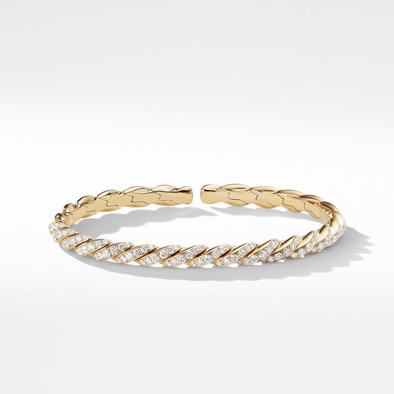 David Yurman Pavéflex Bracelet in 18K Gold with Diamonds