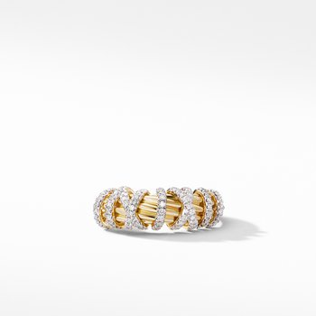 Helena Small Ring with 18K Yellow Gold and Diamonds