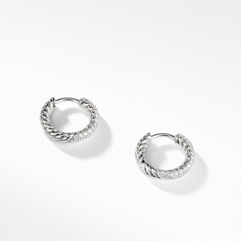 Petite Pavé Huggie Hoop Earrings with Diamonds