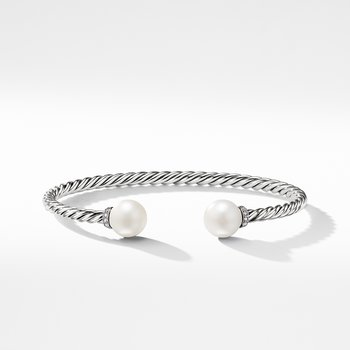 Solari Bracelet with Diamonds and Freshwater Pearl