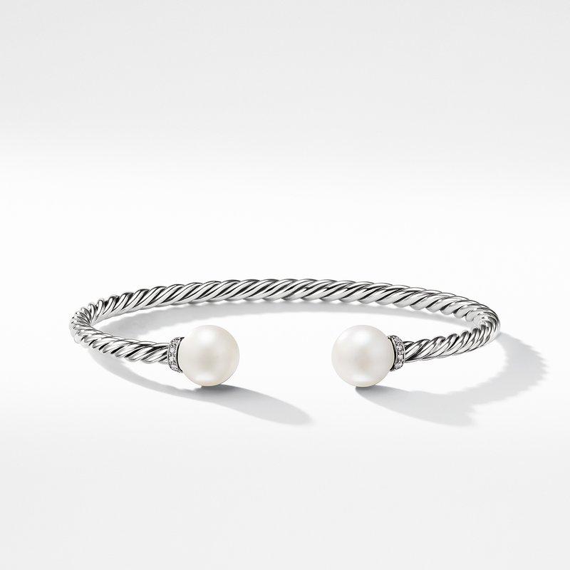 David Yurman Solari Bracelet with Diamonds and Freshwater Pearl