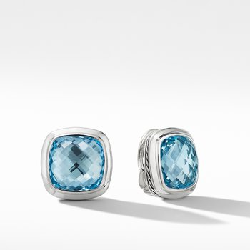 Albion® Stud Earrings with Blue Topaz