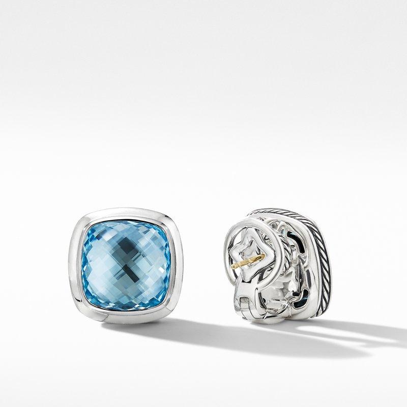 David Yurman Albion® Stud Earrings with Blue Topaz