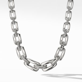 Wellesley Short Chain Necklace with Diamonds