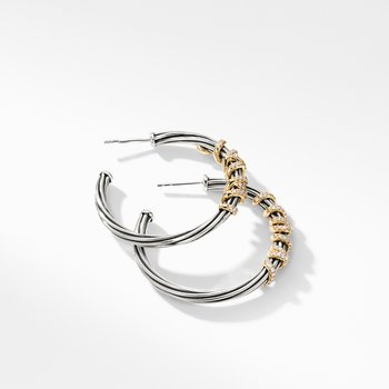Helena Large Hoop Earrings with Diamonds and 18K Gold