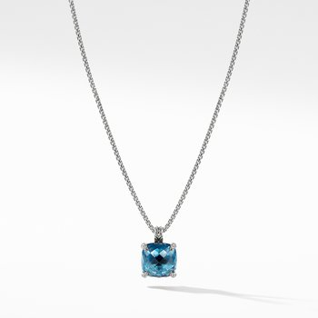 Chatelaine® Pendant Necklace with Hampton Blue Topaz and Diamonds 1