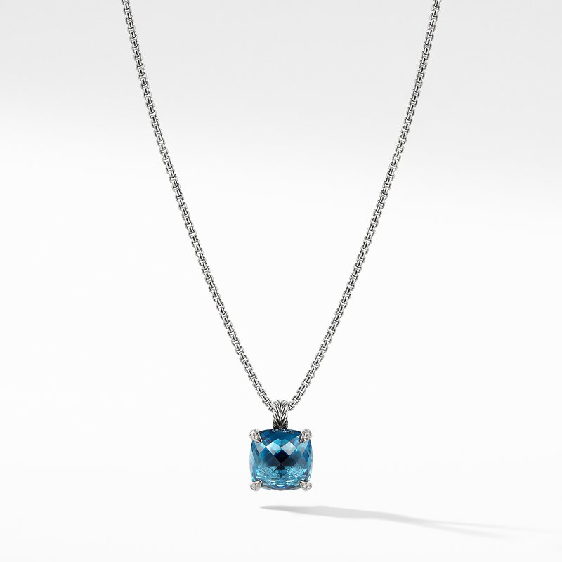 David Yurman Chatelaine® Pendant Necklace with Hampton Blue Topaz and Diamonds 1