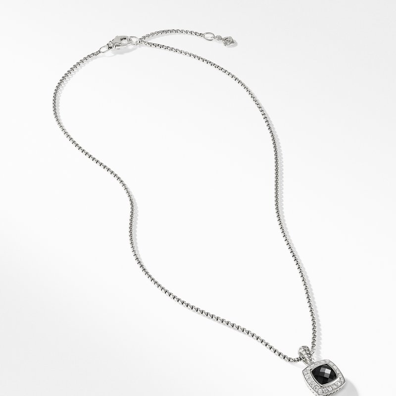 David Yurman Petite Albion® Pendant Necklace with Black Onyx and Diamonds
