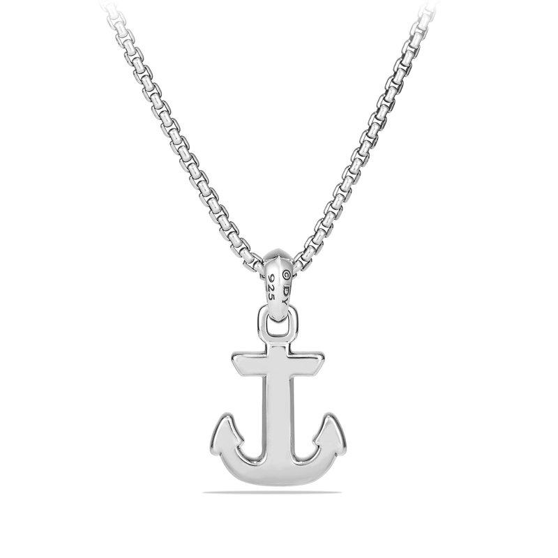 David Yurman Maritime® Anchor Amulet with Black Diamonds
