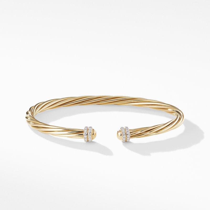 David Yurman Helena Bracelet in 18K Yellow Gold with Diamonds