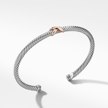 X Station Bracelet with 18K Rose Gold