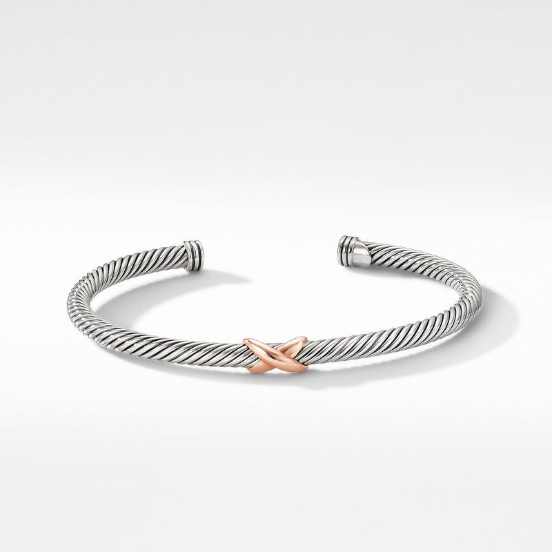 David Yurman X Station Bracelet with 18K Rose Gold