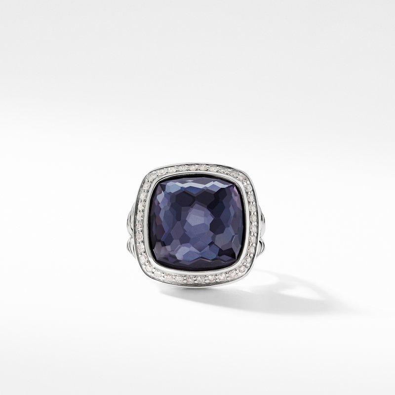 David Yurman Ring with Lavender Amethyst and Diamonds