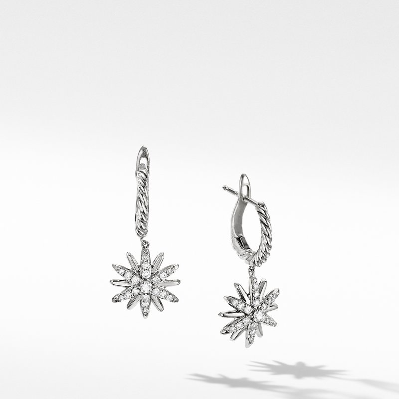 David Yurman Starburst Drop Earrings with Pavé Diamonds