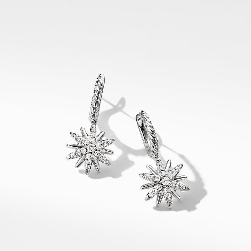 David Yurman Starburst Drop Earrings with Pavé Diamonds