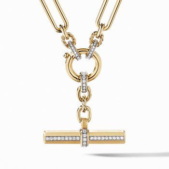 Lexington Chain Necklace in 18K Yellow Gold with Diamonds