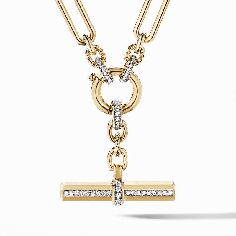 David Yurman Lexington Chain Necklace in 18K Yellow Gold with Diamonds