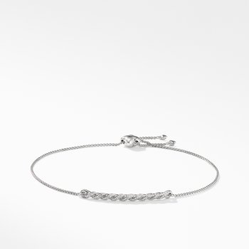Paveflex Station Bracelet with Diamonds in 18K White Gold