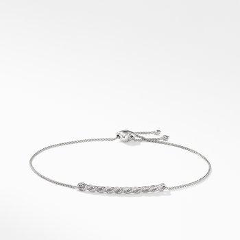 Paveflex Station Bracelet with Diamonds in 18K White Gold
