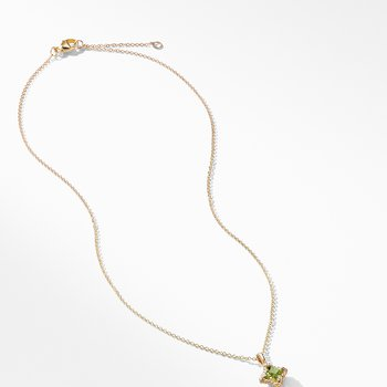 Cable Collectibles® Kids Quad Charm Necklace with Peridot in 18K Gold