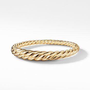 Pure Form Cable Bracelet in 18K Gold